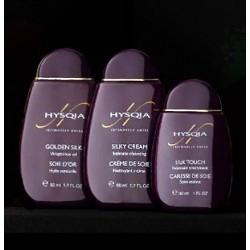 Набор из 3 средств HYSQIA: масло для тела, увлажняющая эмульсия, очищающий крем